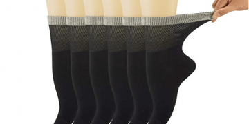 Eco-Friendly Bamboo Crew Socks For Women Image
