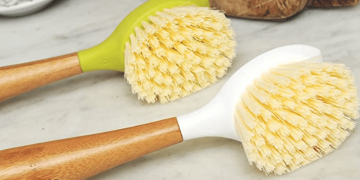 Eco-Friendly Bamboo Handle Kitchen Dish Brush Image