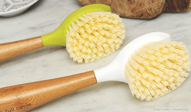 Eco-Friendly Bamboo Handle Kitchen Dish Brush Image