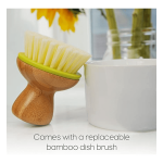 Eco-Friendly Bamboo Handle Kitchen Palm Brush Image