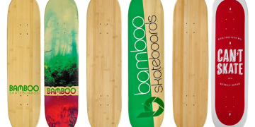 Eco-Friendly Bamboo Skateboard Deck Image