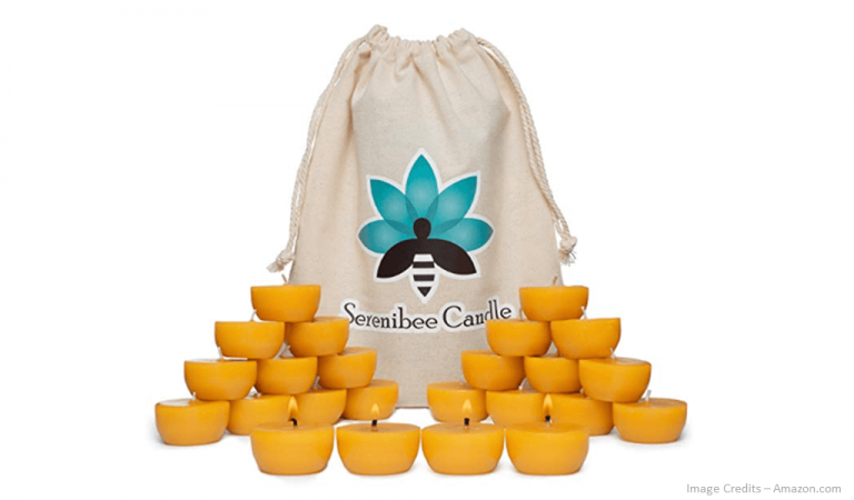Eco-Friendly Beeswax Tea Light Candles Image