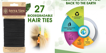 Eco-Friendly Biodegradable Elastic Hair Ties Image