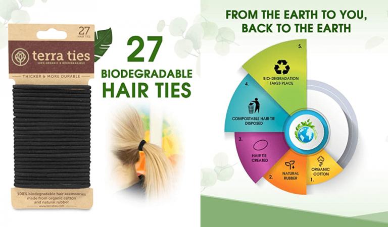 Eco-Friendly Biodegradable Elastic Hair Ties Image