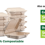 Eco-Friendly Compostable Clamshell Food Containers Image