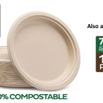 Eco-Friendly Compostable Plates - Round Image