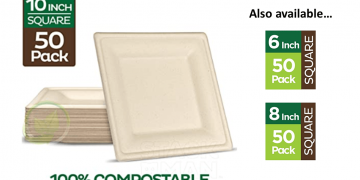 Eco-Friendly Compostable Plates - Square Image