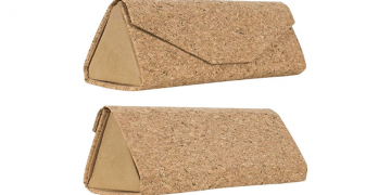 Eco-Friendly Cork Eyeglass Case Image