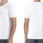 Eco-Friendly Mens Bamboo Rayon V-Neck T-Shirts Image