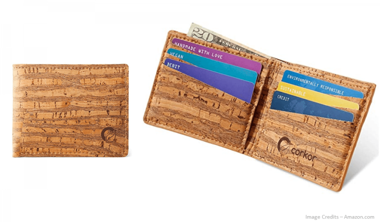 Eco-Friendly Mens Cork Wallet Image