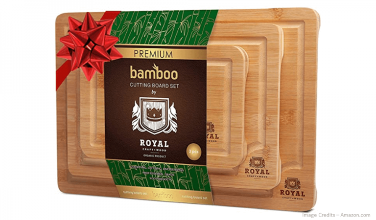 Eco-Friendly Organic Bamboo Cutting Board Set Of 3 Image