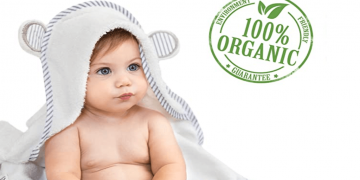 Eco-Friendly Organic Bamboo Hooded Baby Towel Image
