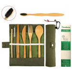 Eco-Friendly Reusable Bamboo Cutlery Set Image