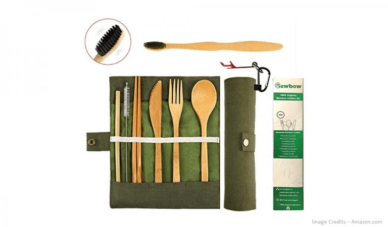 Eco-Friendly Reusable Bamboo Cutlery Set Image
