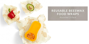 Eco-Friendly Reusable Beeswax Food Wraps Image