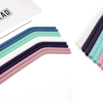Eco-Friendly Reuseable Silicone Straws Image