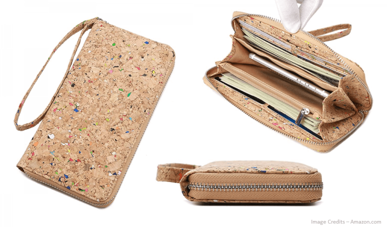 Eco-Friendly Womens Cork Clutch Bag Image